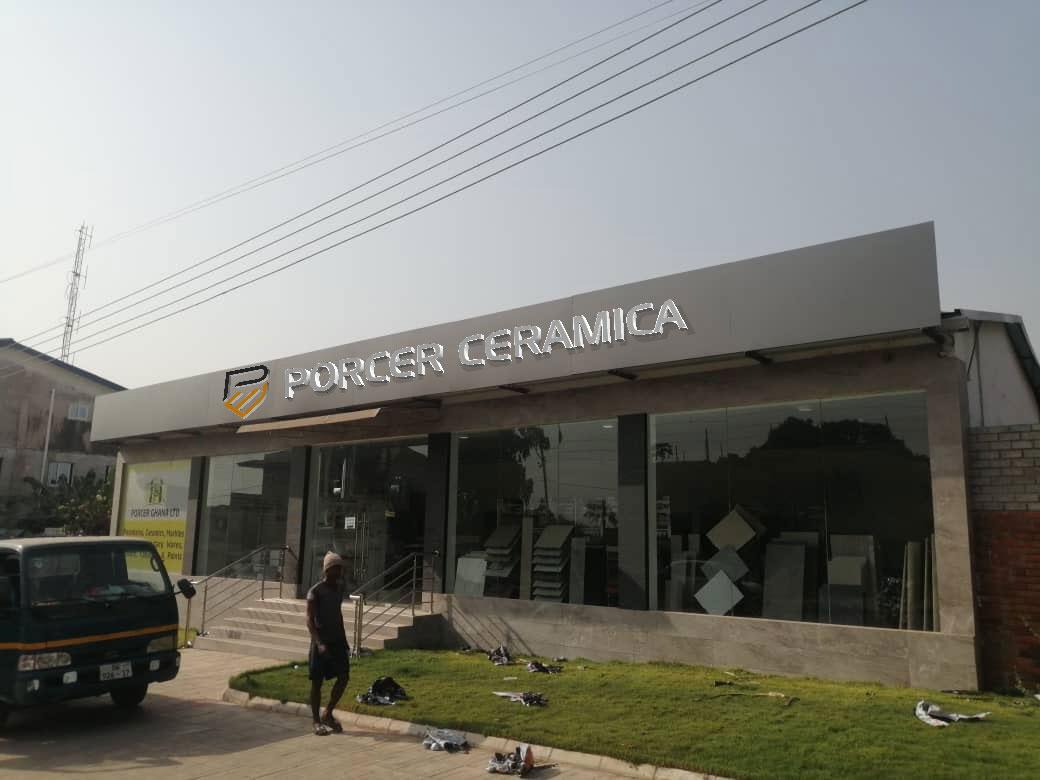 Porcer Ghana Signage mockup by SA